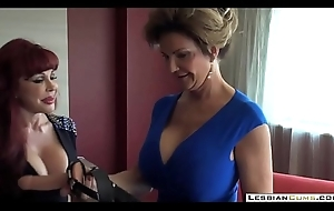LesbianCUMS.com &rarr_ Mature Tribadic Moms Got Boobs