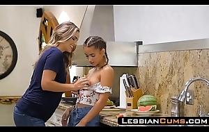 LesbianCums.com: Big Tits Nurturer Going to bed Son