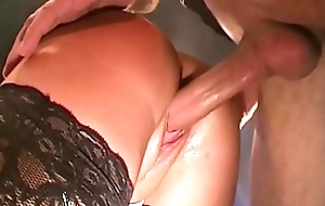 Bonny Blonde MILF with Obese Na‹ve gut Receives Cum covered - German Guck Gals