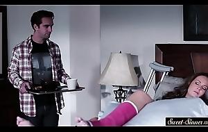 Cougar stepmom cockrides say no to horny stepson