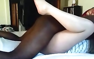 Amateur sexy housewife interracial