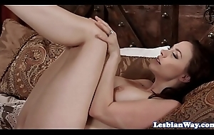 Scissoring stepmom enjoys of a female lesbian two