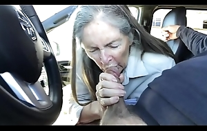 granny blow job regarding jalopy - cum