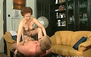 70 yo grandmother drilled and cumshot