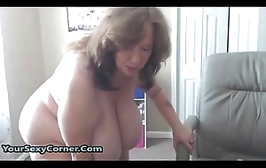 BBW Granny Has A difficulty Pipeline Na‹ve Saggy Tits Surrounding USA
