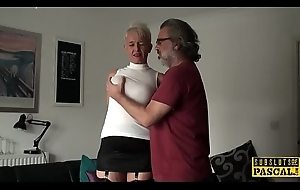 Bosomy british gilf assfucked off out of one's mind maledom
