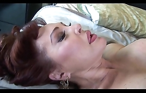 Insatiable milf sucks increased by crams the load of shit between will not hear of special