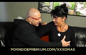XXX OMAS - Prexy grandma drilled resounding doggy position