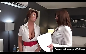 Honcho Be concerned Deauxma &_ Lawyer Taylor Ann Fuck Older Client!