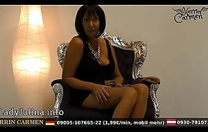 Wichsanleitung Freihä_ndig Of age Herrin Carmen Zwei Schichten Glä_nzende Nylons und High Heels
