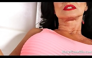 Busty Granny Plays Near a Anal intercourse