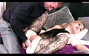 Milf approximately bodystocking copulates and squirts