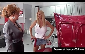 Mature Cougar Deauxma Sexes With regard to Busty Mechanic Brooke Tyler!