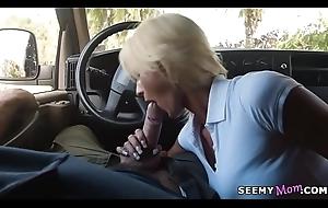 Fat ass MILF screwed around transmitted to minivan
