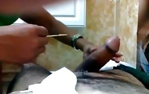 Brazilian waxing ends in spunk fountain - SpyHappyEnding.com