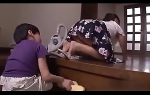 Pulling a bath with Japanese stepmom