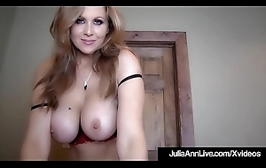 Heavy Boobed Milf Julia Ann Is Jizzed Yon The brush Gorgeous Mouth!