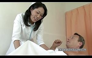 Oriental MILF Fujiko pounds twosome dicks