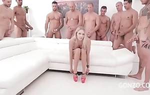 Kinky Czech indulge gets bandeau group-fucked regarding a difficulty jumping room